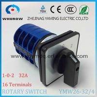 LW26 YMW26 32 4 Rotary Switch 3 Postion 690V 32A 4 Pole 16 Terminal Screw Selector