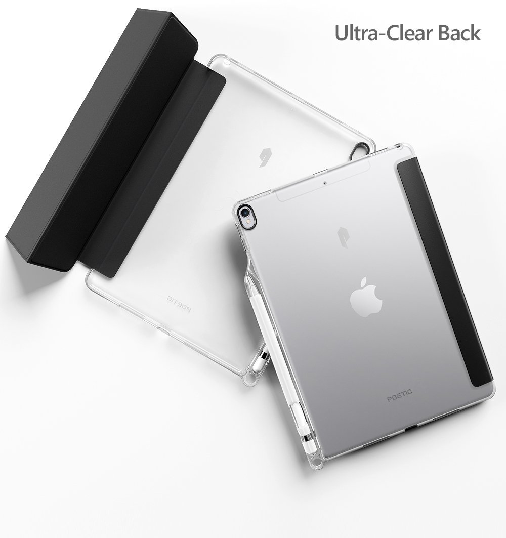 super popular f7da3 72e37 US $14.99 |Poetic Lumos X Flexible Soft Transparent Ultra Thin TPU Slim Fit  Trifold Stand Folio Pencil Holder Case for Apple iPad Pro 10.5-in Tablets  ...