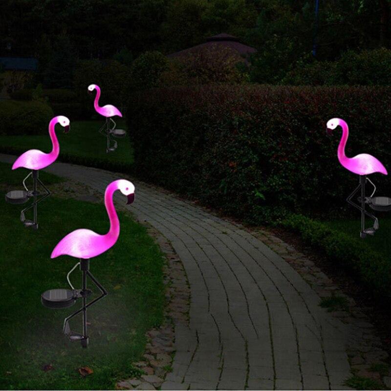Solar Flamingo Light LED 3Pcs/lot Garden Waterproof Nightlight For Decoration Panel Lawn Lighting