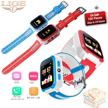 LIGE Smart Kid Watch LBS Positioning Child Tracker SOS Tracking Daily  Baby Birthday Gifts For Kids+Box