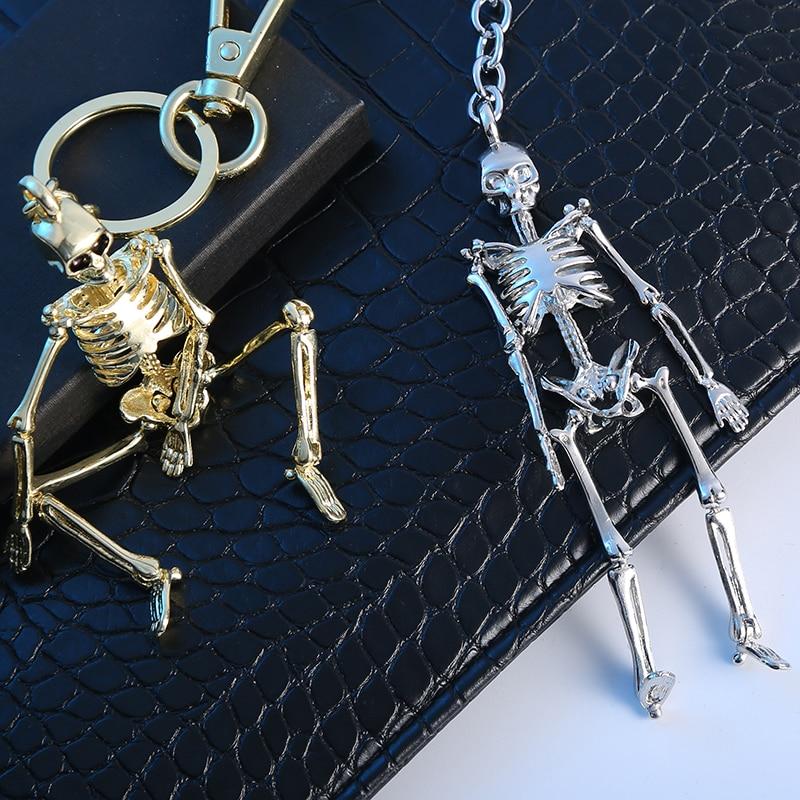 Бүктелген Skeleton Pendant Key Chain For Men Ерлер - Сәндік зергерлік бұйымдар - фото 2