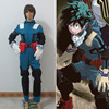 Anime Boku No Hero Academia Midoriya Izuku Battle Uniform Cosplay Costume Full Set BagsX4 Custom Size