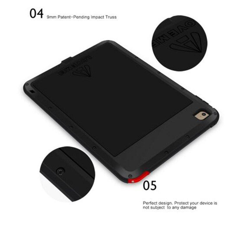 Love Mei Armor Cover Waterproof Case for iPad 5 Air Retina Fundas Shell Housing Water/Dirt/Shock/Rain Proof for iPad Air