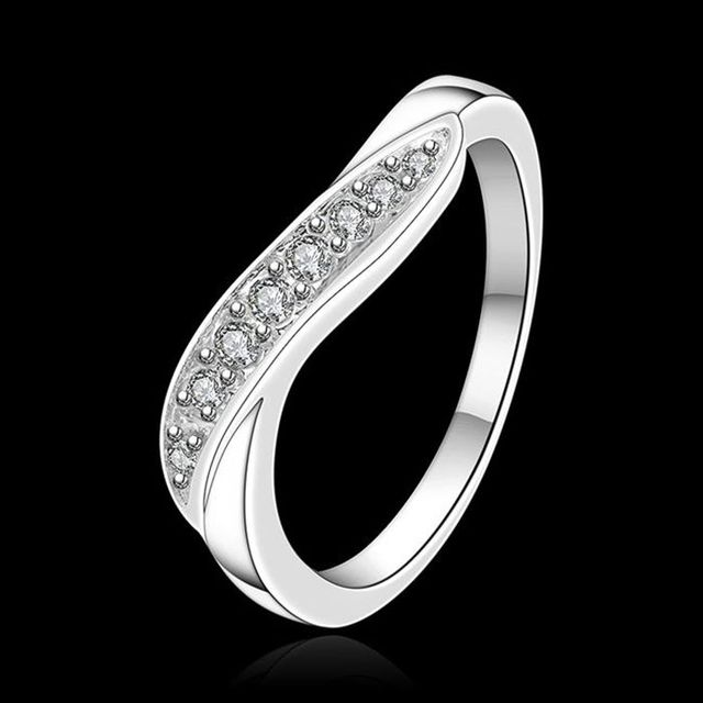 Free Shipping 925 jewelry silver plated Jewelry Ring Fine Fashion Silver Plated