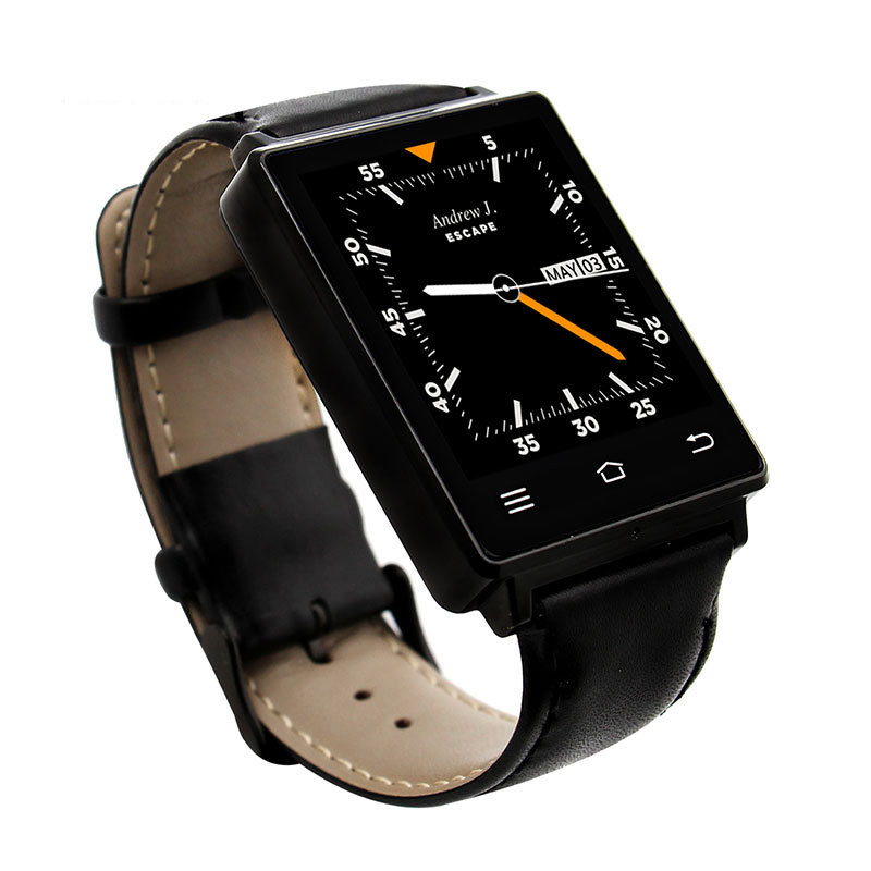 Honorable Wise Smart Watch 1GB+8GB ROM 3G Call GPS Positioning WIFI Browse Web Health Tracker Bluetooth Sync Leather strap Watch iphone 3g 8 gb по очень низкой цене