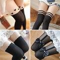 Ventas grandes Medias de Mujer de Moda Japón Lindo Calentadores de La Pierna de Las Mujeres Atractivas Flacas Stocking Rodilla Attactive Mujer Stocking