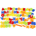 Магнитные Буквы алфавита Математика Количество Магниты На Холодильник Обучающие Игрушки Подарок 80 Шт.