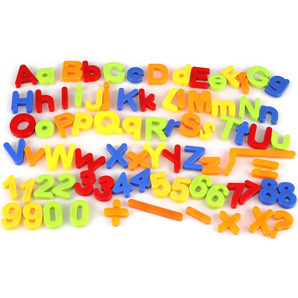 Magnetic Alphabet Letter Maths Number Fridge Magnets Learning Toys Gift 80Pcs number