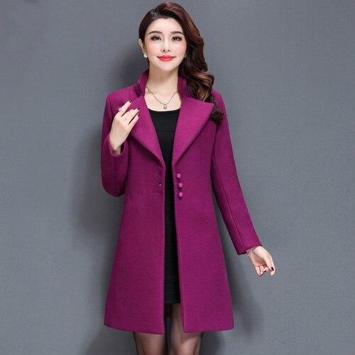 Livraison Gratuite De Haute Qualité Automne Hiver Nouvelle Laine Manteau Dame Portant la Mode Mince Mère Plus La Taille Femmes Vêtements de Travail Clohtes