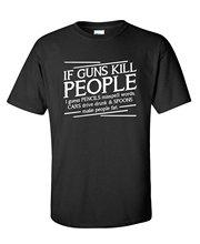 цена на New Funny Brand Clothing   Men'S Work Broadcloth Guns Kill People Pencils Miss Spell Words T Shirts
