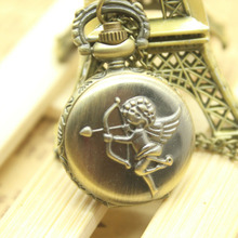 Vintage Charm Unisex Steampunk Quartz Pocket Watch Women Man Necklace Pendant with Sweater Chain Watches Gifts