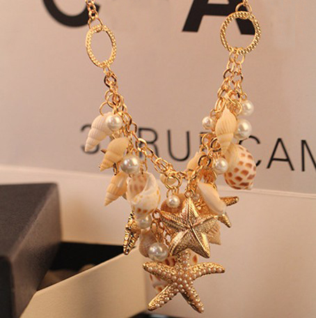 (Mix Item) SBY0026 New Style Fashion Starfish Shell Statement Necklace Pendent