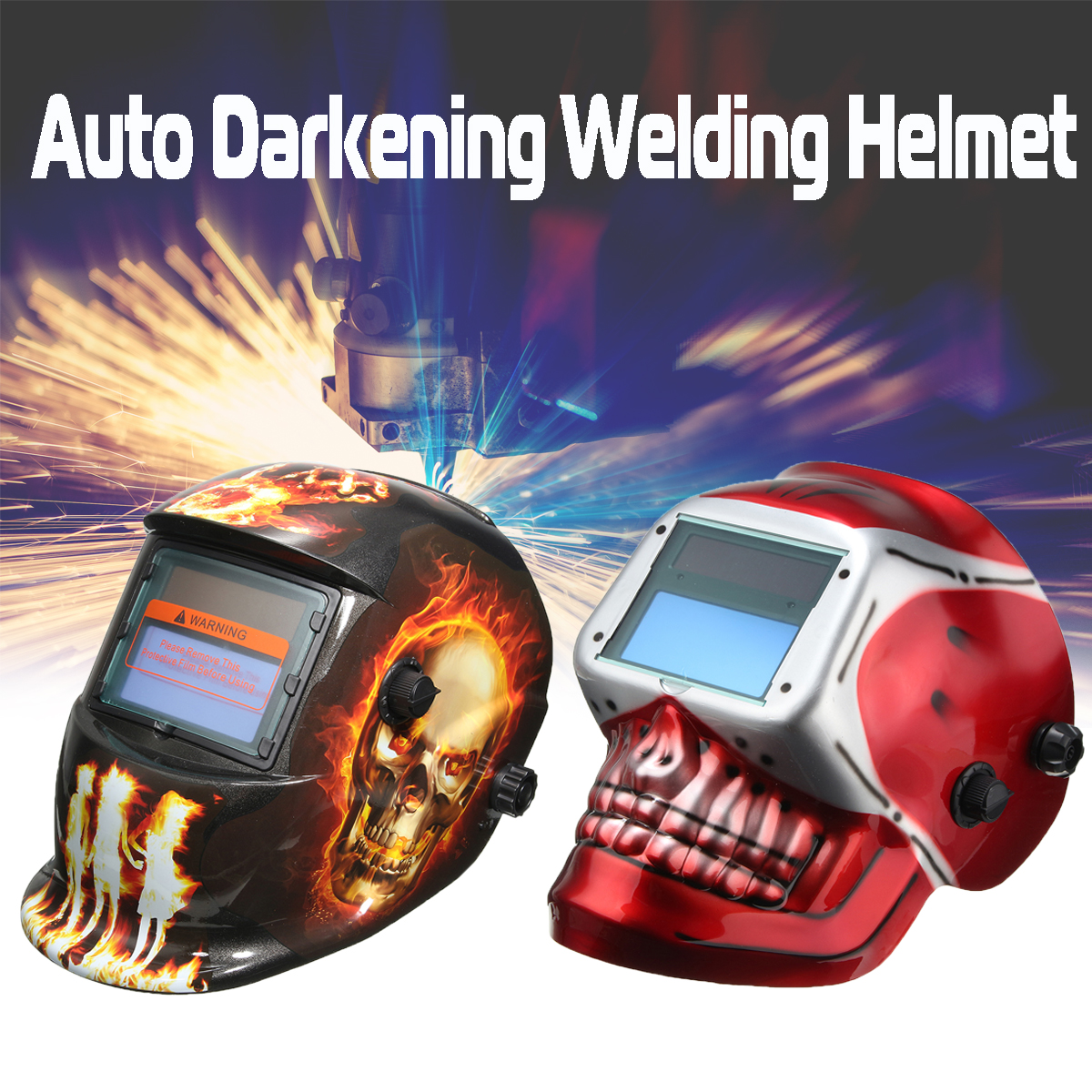 Solar Powered Auto Darkening Electric Welding Helmet Welding Mask/Lens for Welding Machine or Plasma Cutter solar auto darkening electric welding helmet mask welder cap welding lens glasses for welding machine plasma cutter