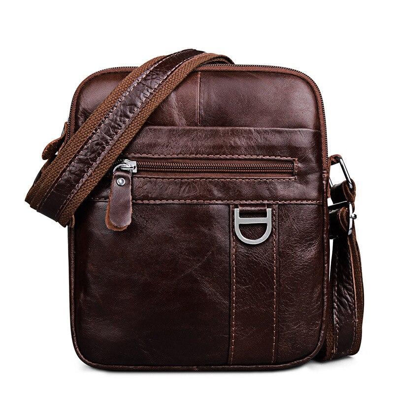 Мужская сумка из натуральной кожи, винтажная Высококачественная сумка мессенджер, повседневные сумки через плечо, сумка из коровьей кожи с масляным воском| |   | АлиЭкспресс
