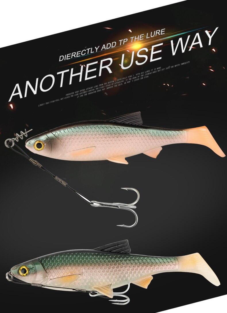 RoseWood Leaders With Treble Hook Fishhooks Metal Jig Hook High Carbon Steel #6 #1 #10 #20 Assist Hooks Line Fishing Hook  (3)