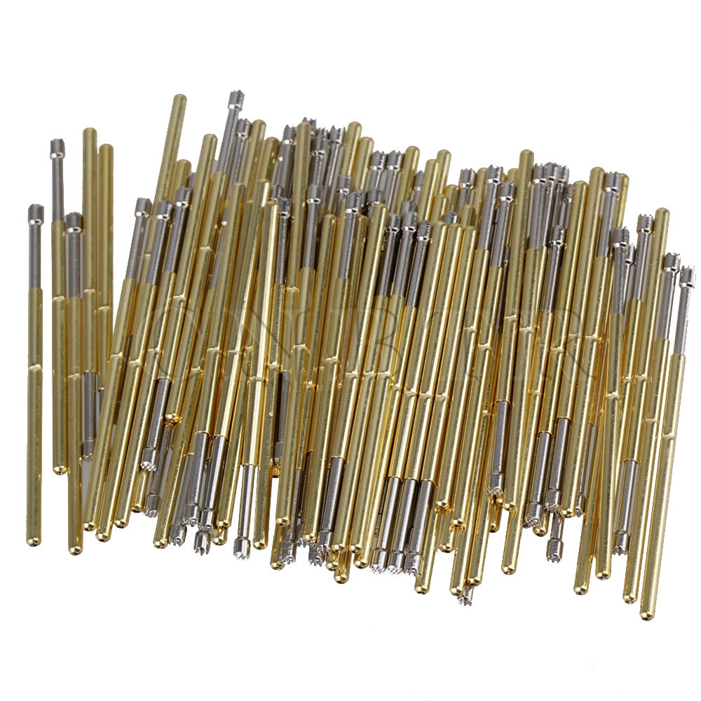 CNBTR 100pcs Spring Test Probe Receptacle Pogo Pin P100-H2 1.36mm Dia 33.35mm Length