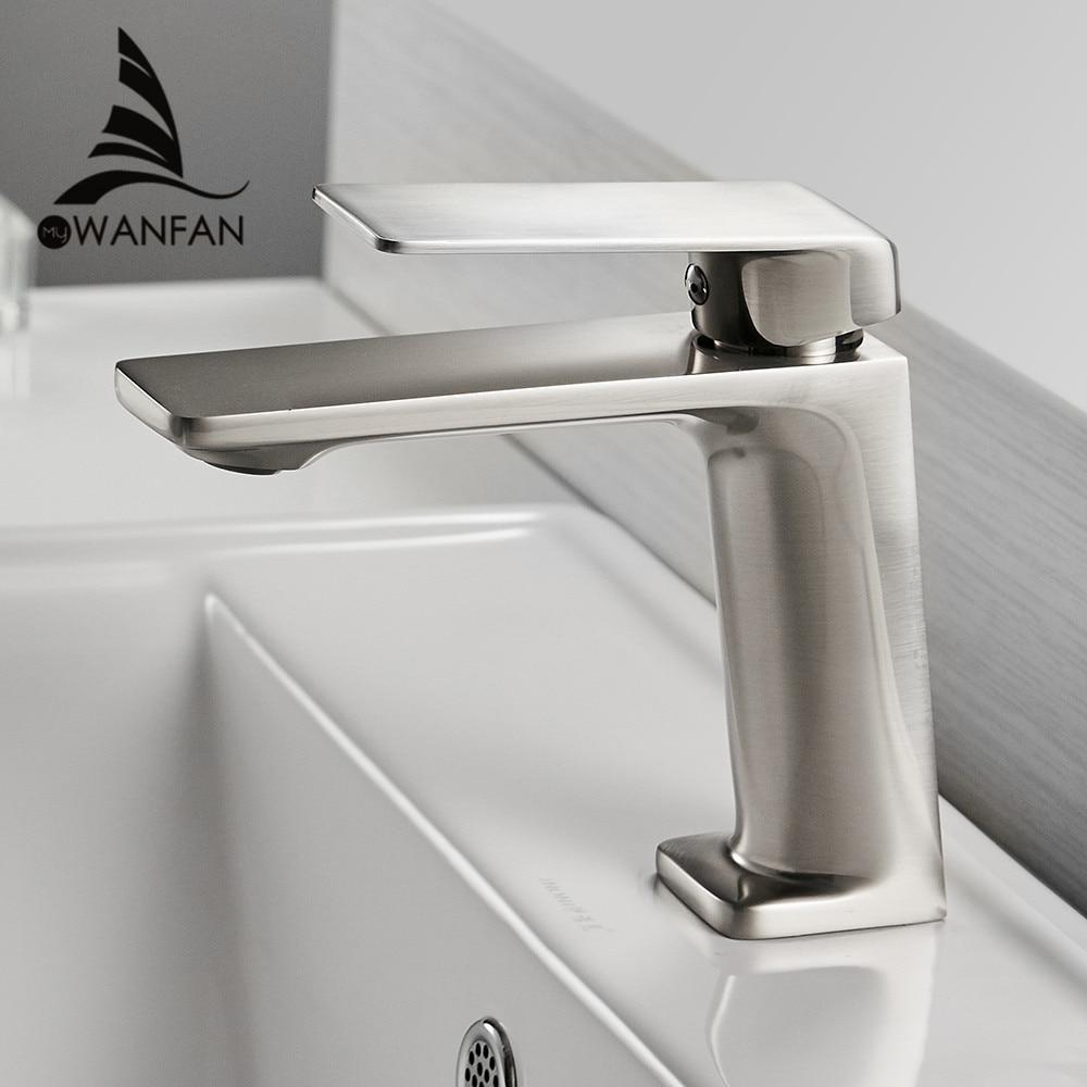 Basin Faucet Brushed Nickel Torneiras Bathroom Sink Faucet Single Handle Hole Faucet Basin Taps Hot Cold Mixer Tap Crane 9922