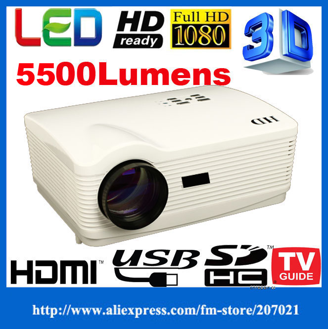 HD 1280*800 Portable Led Video digital Projectors 220W led lamp multimedia home theatre 1080P projector proektor hdmi ATCO