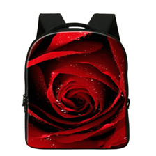 d7ac0110aa Red Rose Tote 3D Flower Print Multifunction Handbags For Women Large  Messenger Bag Girls Casual Travel Beach Bag Bolsas Feminina
