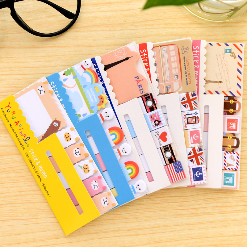 6 pcs/Lot Retro London sticky notes Travel memo pad Post stickers Stationery office accessories School supplies F511 5 pcs lot 100 sheets fluorescent color sticky notes for marker classification macaron memo pad post office school supplies a6971