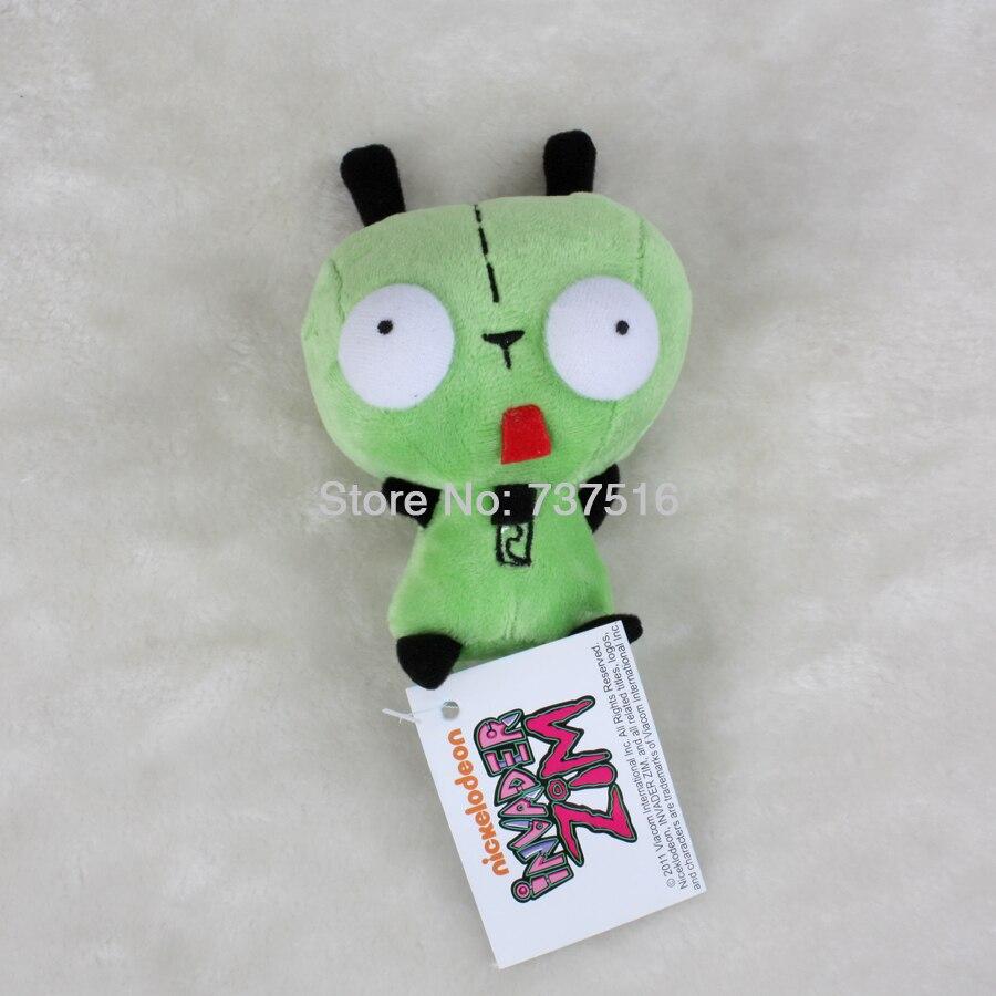 Mini Alien Invader Zim Gir 3D Bulging Eyes Green 5.5'' Plush Doll Cute Toy Gift US Shipped