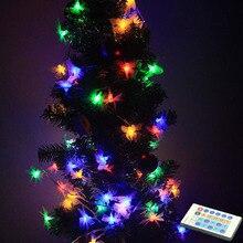 10 м 100 светодиодный Водонепроницаемый бабочки СВЕТОДИОДНЫЙ строка DC12V с блоком питания постоянного тока для пульта дистанционного управления Фея светильник для праздничного оформления на открытом воздухе улицы освещение для сада