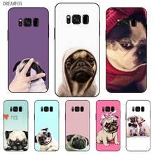 P173 Pug Black Silicone Case Cover For Samsung Galaxy S5 S6 S7 S8 S9 S10 S10E Lite Edge Plus