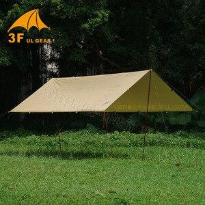 Image 1 - 3F UL معدات قماش القنب كوريا الوطنية الغابات 4x4.4m مكافحة الأشعة فوق البنفسجية 210T مع طلاء الفضة في الهواء الطلق مأوى كبير الشاطئ المظلة السياحية المظلة
