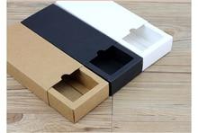 Luxury black kraft paper sliding box, cardboard drawer box, CD sleeve Black slide box Custom gift box marvis black box gift set