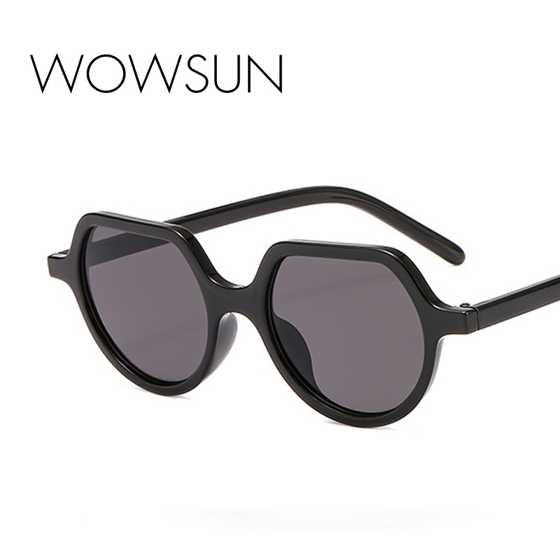 WOWSUN New Fashion Oval Sunglasses Women Brand Designer Driving Vacation Gradient Frame Sunglasses Ladies UV400 A731
