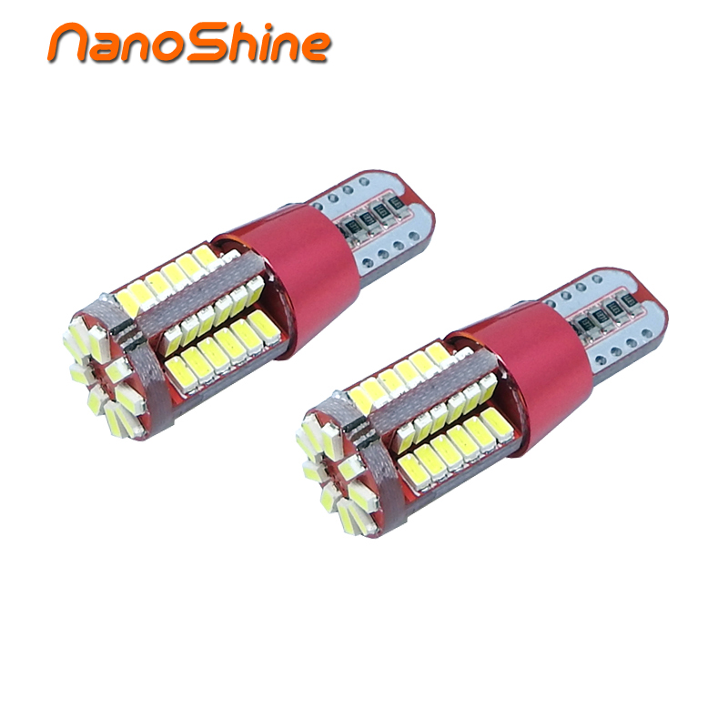 Nanoshine T10 57 SMD 3014 LED auto Clearance Light W5W 194 192 2825 Car Wedge Tail Side Bulb reading lamp 12V 4pcs car w5w t10 led light 48 3014 smd side marker lamps warm white clearance lights bulb dc 12v