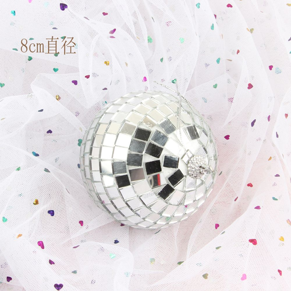 "disco mirror ball silver dance club Christmas ornament resin 3/""  7.5 cm diameter"