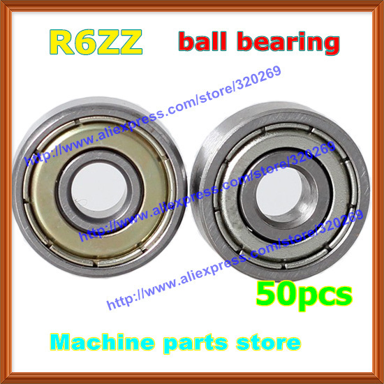 50pcs  radial shaft R6ZZ 38 x 78x 932  metal shield Inch R6Z .375x .875x .281  ball bearing