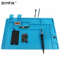 DIYFIX S 170 480x318mm Silicone Pad Desk Work Mat Heat Insulation Maintenance Platform For BGA PCB