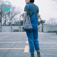 LinenAll Индиго античный с синей эмалью повседневные брюки 100% льняные брюки и окрашенные растения Комбинезоны Брюки женские