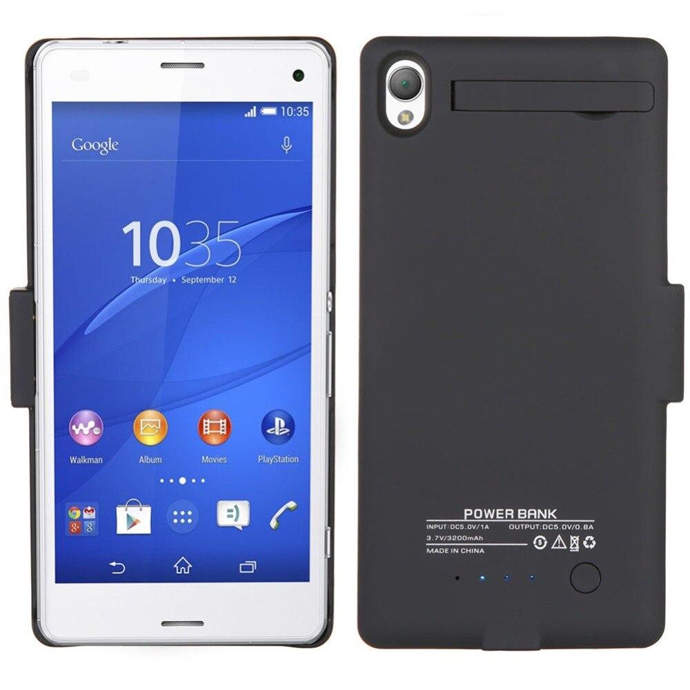 imágenes para Alta Calidad 3200 mAh de Copia de Seguridad Externa Cubierta Del Cargador de Batería de Alimentación Paquete por Caja Para Sony Xperia Z3