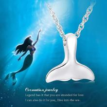 цена на IJD9901 Stainless Steel SilverTail Pendant Mermaid Necklace Cremation For Ashes Urn Keepsake Memorial Necklace Women Jewelry