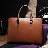 BVP Free Shipping Mens Top Genuine Leather Business Laptop Case Briefcase Portfolio Tote Attache Fashion Bag