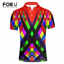 FORUDESIGNS Super Color Fashion Polo Homme High Quality Brand Men Shirt New Summer European Mens Camisa Plus Size XS-XXL