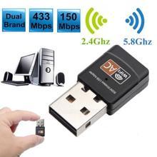 Беспроводной USB WiFi адаптер 433 Мбит/с wifi Антенна ПК сетевая карта двухдиапазонный wifi 5,8 ГГц адаптер Lan USB Ethernet приемник