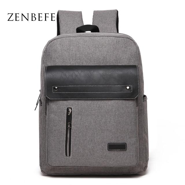 93976a12f127f ZENBEFE Oxford Herren Rucksack Coole Schultasche Für Jugendliche Qualität Laptop  Rucksack Männer Daypack Rucksack Für Reisetasche