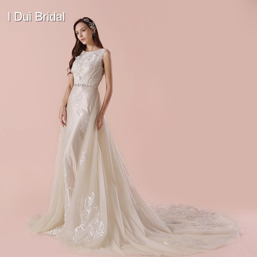 Detachable Outskirt A Line Wedding Dress 2018 New Arrival