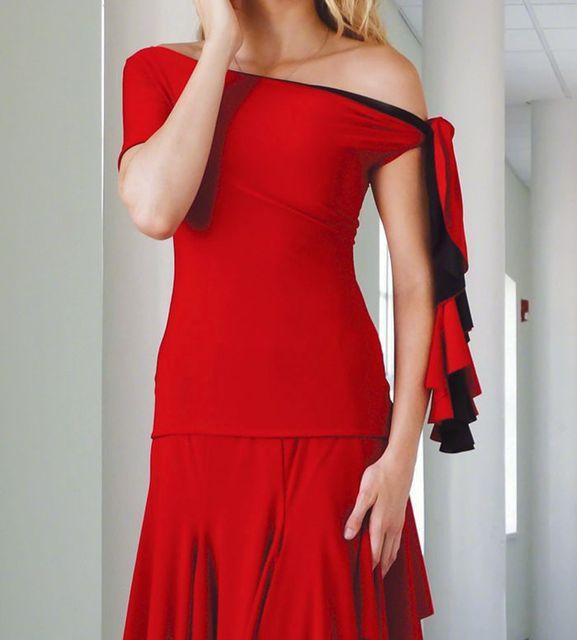 Erwachsene Ballsaal Dance Kleider dame Langarm Schwarz Blau Rot Tango Walzer Tanzen Rock Frauen Ballroom Dance Wettbewerb Kleid