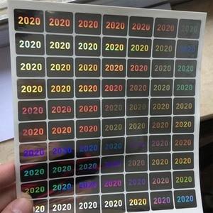 Image 2 - השנה של 2020 2021 הולוגרמה 15mm x 20mm אחריות VOID אם חותם שבור הולוגרפית מדבקות בטיחות חותם תווית עבור חבילה