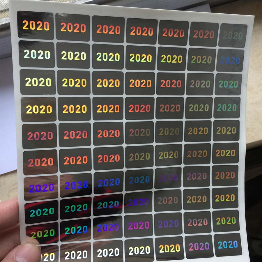 the year of 2020 2021 hologram 15mmx20mm warranty VOID IF seal broken holographic stickers safty seal label for packageStationery Stickers   -