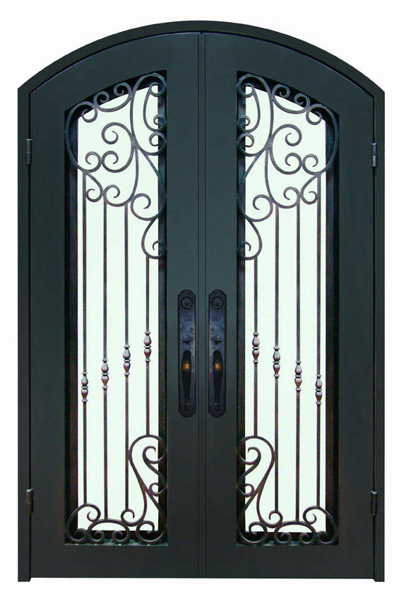 Entry Door With Wrought Iron Glass  Wrought Iron Entrance Doors Rod Iron Front Door