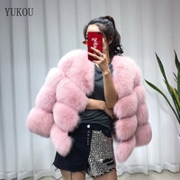 Women Fox Fur Coat 2018 Winter Fashion Real Fur Fox Jackets Female Fur Fox Coats Keep Warm Multiple Colors