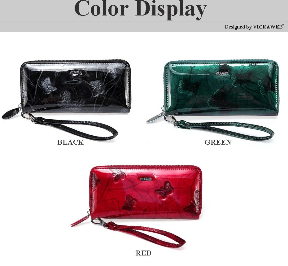 VICKAWEB Wristlet Wallet Female Animal Prints Women Wallets Genuine Leather Purses Ladies Fashion Zipper Purse Standard Wallets-PJ38-003