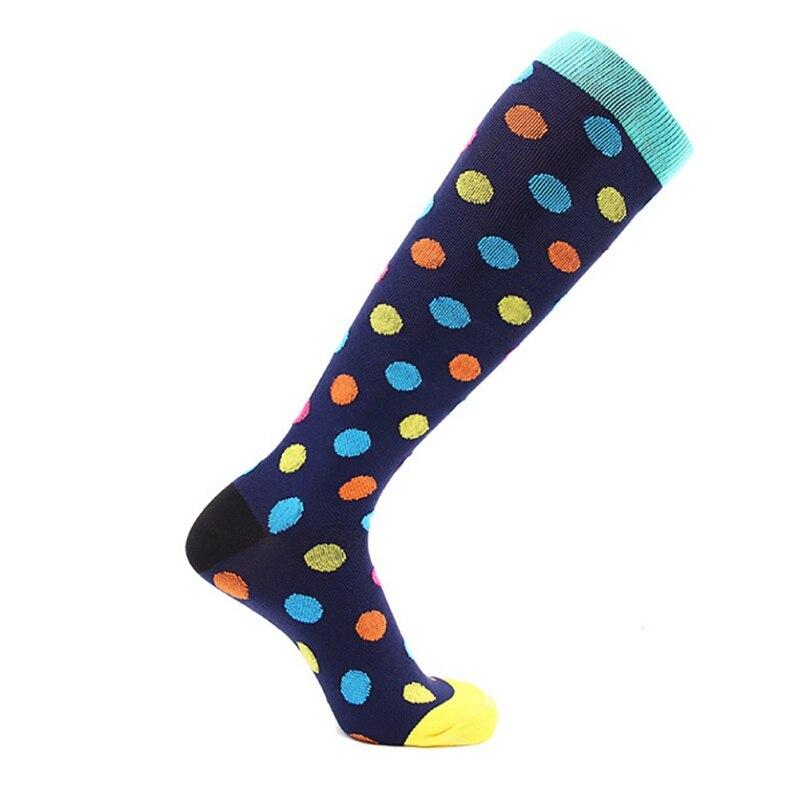 Мужские и женские Компрессионные носки высокие дышащие футбольные носки для спорта на открытом воздухе - Цвет: F