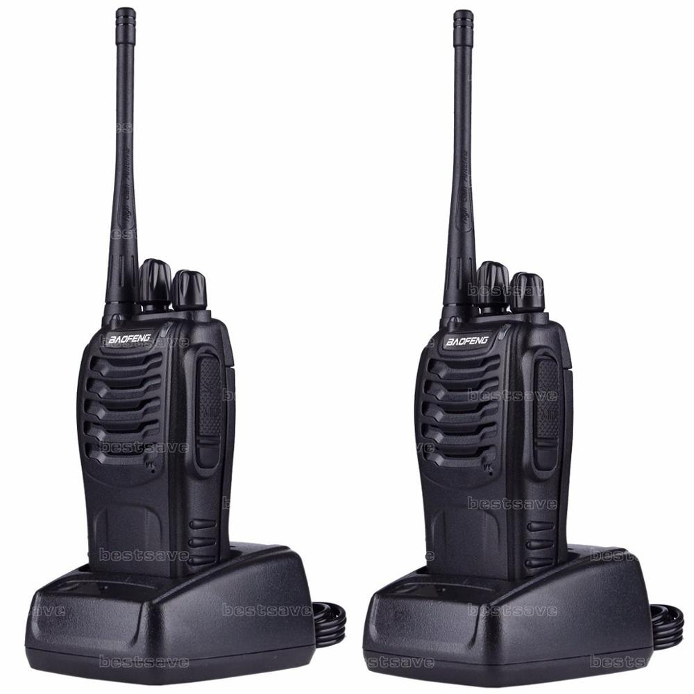 2x BAOFENG BF-888S UHF 400-470 MHz 5 W 16CH Ham Two Way Radio Talkie/Walkie + écouteur + russie stock